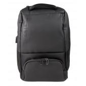 BESTLIFE Neoton TravelSafe Rucksack für Laptop bis 15,6 Zoll USB Security Features schwarz