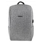 BESTLIFE Calpe  TravelSafe Rucksack für Laptop bis 15,6 Zoll USB grau