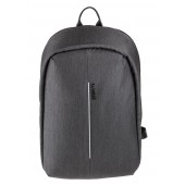 BESTLIFE Barinas TravelSafe Rucksack für Laptop bis 15,6 Zoll USB grau