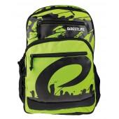 BestLife Schulrucksack für Laptop und Tablet bis 15,6 Zoll Smartphonefach grün / schwarz