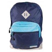 BestLife Schulrucksack für Laptop und Tablet bis 15,6 Zoll Smartphonefach hell/ dunkel blau