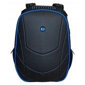 BESTLIFE Assailant Gaming Rucksack für Laptop bis 17 Zoll USB schwarz/blau
