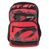 BestLife Schulrucksack für Laptop und Tablet bis 15,6 Zoll Smartphonefach rot / schwarz