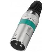 MONACOR XLR-207P/GN XLR-Stecker, 3-polig