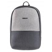 BESTLIFE Murada TravelSafe Rucksack für Laptop bis 15,6 Zoll USB grau