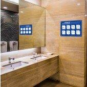 Hinweisschild für allgemeine Händewasch-Regeln A3 die 8 wichtigsten Regeln zum Händewaschen, alu