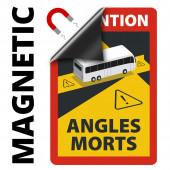 Angles Morts - Toter Winkel - Schild magnetisch A5 4 Stück, Hinweisschild Bus-Wohnmobil