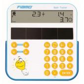 Fiamo Math Trainer anzeig. Lernrechner - solar 2-zeilig -11 Stellen-LCD - mehr als 10.000 Übungen