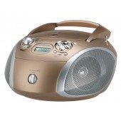 Grundig RCD 1445 USB - CD-Radio - brau/silber