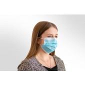 Mund- und Nasen-Maske / Behelfsmaske blau
