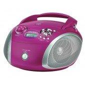 Grundig RCD 1445 USB - CD-Radio - violett/silber