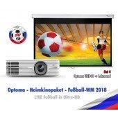 Optoma WM-Paket 4 - Heimkinoprojektor und Leinwand