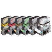Epson Standardetikettenkassette – LC5WRN9 Std. Red/Wht 18/9