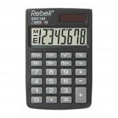 Rebell SHC 108 Taschenrechner, Solar u. Batterie 8-stelliges LCD Display, Schutzhülle umklappbar