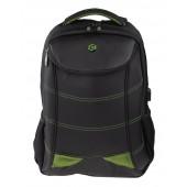 BESTLIFE Snake Eye Gaming Rucksack für Laptop bis 17 Zoll USB schwarz/grün