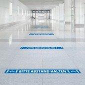 Abstandsaufkleber lang für Fliesen und Glas Markierung von Warteschlangen/Sicherheitsabständen