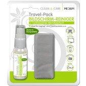 MEDIUM CLEAN & CARE TravelPack Bildschirm-Reiniger 25ml 1 extrafeines Microfasertuch 15x18cm