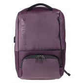 BESTLIFE Neoton TravelSafe Rucksack für Laptop bis 15,6 Zoll USB Security Features lila