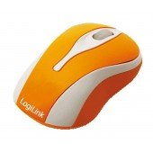 LogiLink optische USB-Maus Mini mit LED - orange LEDs im Scrollrad - USB-Anschluss - Plug and Play