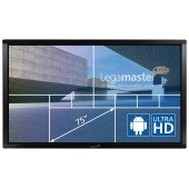 "Legamaster e-Screen ETX-7510UHD - 75"" Touch-Display - black"