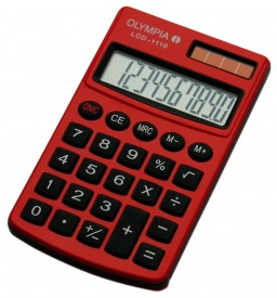 Olympia LCD-1110 - Taschenrechner - rot