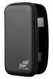 CalcCase Tiny - Hardcase Schutztasche - für Schulrechner - schwarz