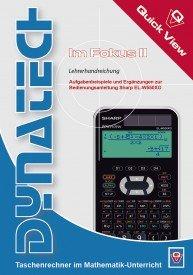 Im Fokus II: Sharp EL-W550XG - QuickView